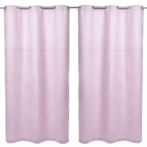 AFT Micro Suede Fabric Magenta Pink 220 Cm X 135 Curtains