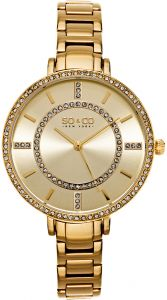 622d2c24d SO&CO New York Soho Women's Gold Dial Stainless Steel Band Watch - 5066.3