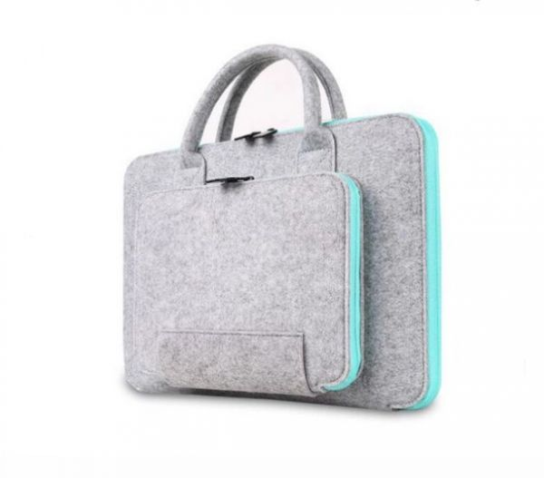 Wool Felt Laptop Bag For Mac 13inch Mouse Bags Briefcase Macbook Air Pro Retina Lenovo Notebook Sleeve Case