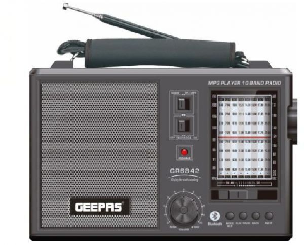 Geepas Rechargeable 10 Band Radio Mp3 Player Gr6842 Souq Uae