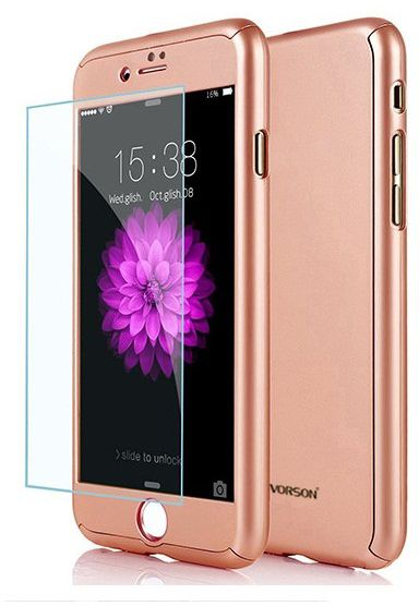 c4b7097694b VORSON ULTRA-THIN 360 FULL PROTECTION COVER FOR IPHONE 7 plus pink ...