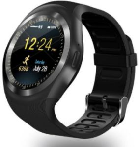 Smart Watch Rubber Band For Android & iOS,Black - Y1