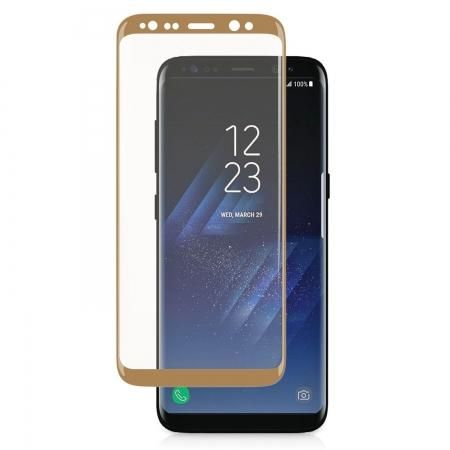 SIRI - Samsung Galaxy S8 3D Curve Tempered Glass Screen Protector -Gold