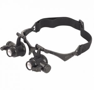 Magnifying Glass With Led lights /10x 15x 20x 25x Magnification Loupes Jeweler Magnifier 9892G