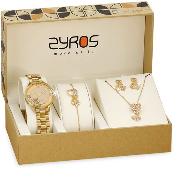 f8de2c8c2ff134 Zyros Set Of Analog Watch With Necklace , Earring And Bracelets ...