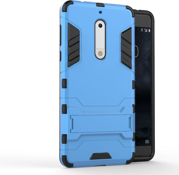 separation shoes 8298b 34a37 Nokia 5 -Shockproof Kickstand TPU Hybrid Back Case Cover -Blue