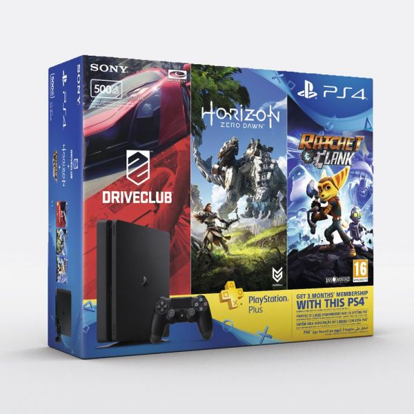 souq playstation 4 500 gb slim console with 3 games and 90 days