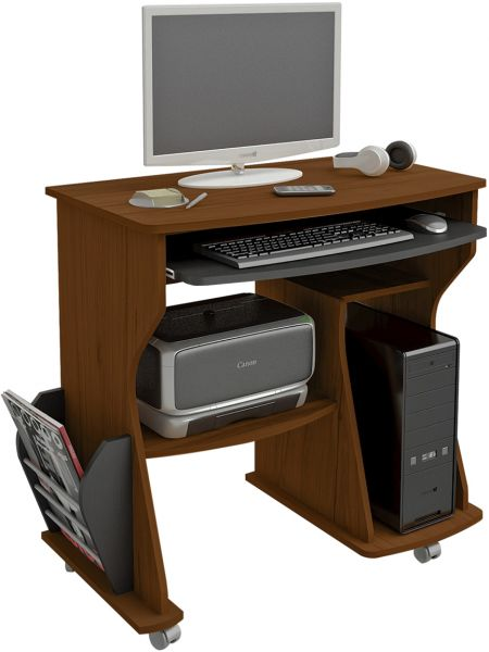 Artely Rack Para Computer Desk, Brown - H 78 cm x W 88 cm x D 46 cm
