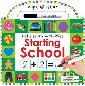 Wipe Clean Let's Learn Activities Starting School by Roger Priddy - Hardcover