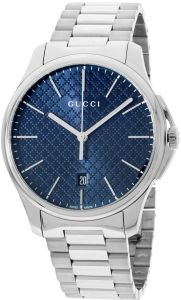 4593a96631a Gucci G-Timeless Men s Blue Dial Stainless Steel Band Watch - YA126316