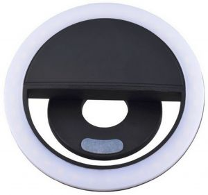 Smart Phone LED Selfie Ring Flash Enhancing Light Beauty Luminous Case For IOS/Android Mobile Phone Black