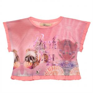 99974a02965f John Galliano Multi Color Round Neck Blouse For Girls