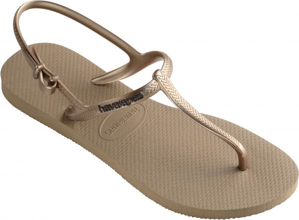6fdc650952ce39 Havaianas Rose Gold Flat Sandal For Women