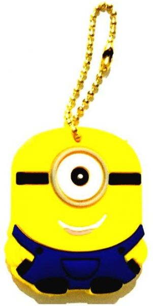 Minion One Eye Cartoon Character Rubber Key Cap Covers Topper