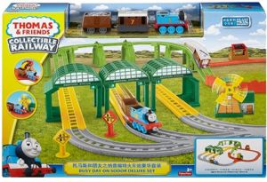 eab9531a12c0 Fisher Price Thomas and Friends Collectible Railway DNR41 Deluxe Set