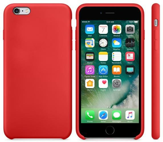 wholesale dealer 4cc0b 9d0fa Silicone iPhone 6 / 6S back cover case - Red