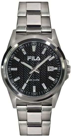 Buy fila sport watch for men stainless steel band 38 128 002 watches ksa souq for Fila watches