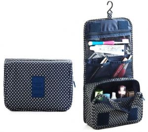 f3424e40b189 Portable Waterproof Cosmetic Makeup Toiletry Travel Hanging Organizer  Storage Bag Pouch - Blue Star