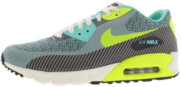 detailing 69787 4230a Nike Air Max 90 Jcrd Premium Qs Running Shoes for Men, Hyper Turquoise Volt  Ivory Anthracite   Souq - UAE
