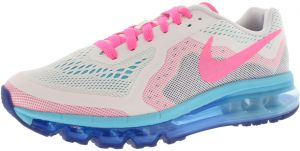 online retailer dce8c 8c553 Nike Air Max 2014 GS Training Shoes for Girls, WhitePink BluePhoto Blue