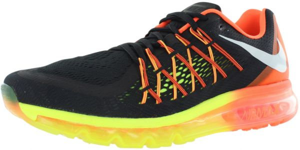 new product 75d9b a5fed Nike Air Max 2015 Running Shoes for Men, Black White Hyper Crimson Volt    Souq - UAE