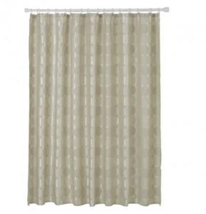 Polyester Geometric Pattern Grey Shower Curtains