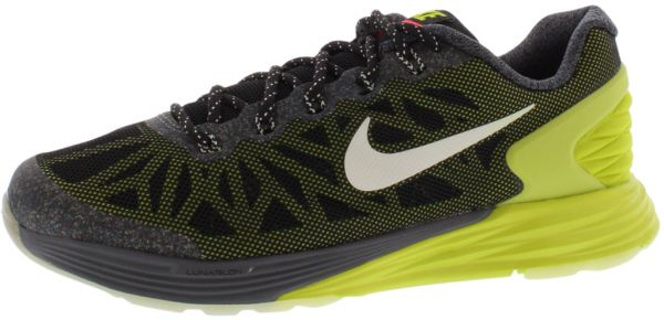 the latest 9a6aa e0ae6 Nike Lunarglide 6 Glow Running Shoes for Boys, Black White Green Dark Grey    Souq - Egypt