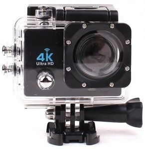 Silver 12MP H9 4K Ultra HD 1080P WiFi Action Camera Camcorder Sports DV Video Recorder 30M Waterproof (Camcorder)