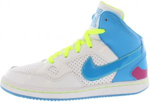 best service 144c5 675ca Nike Son Of Force Mid Preschool Basketball Shoes for Girls, White Vivid  Blue Vivid Pink