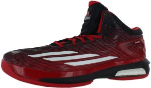 quality design e13aa dc4d3 adidas Crazylight Boost Basketball Shoes for Men, Black White Light Scarlet