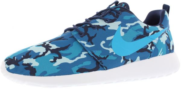 b587e3f7a3015 ... discount nike roshe one print running shoes for men mid navy blue dark  electric blue white