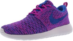 new arrival 98139 947aa Nike Roshe One Flyknit Running Shoes for Women, Fuchsia Flash Game  Royal Black