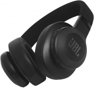 JBL E55BT BLK Over Ear Headphone Wireless - Black