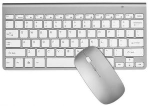 2.4G Wireless Keyboard Mouse Combo Set For Apple MAC/Windows/IOS/Android-Silver
