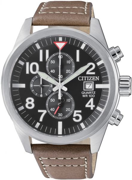Citizen Watch for Men Leather Band , Analog, AN3620-01H