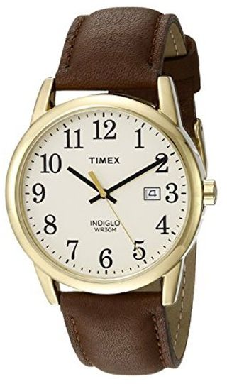 3af1470562ca Timex Easy Reader Women s Beige Dial Leather Band Watch - TW2P75800 ...