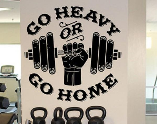 gym wall decals, home decor, waterproof wall stickers | souq - uae