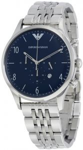 ac5c0cc6f6a6 Emporio Armani Dress chronograph Men s Blue Dial Stainless Steel Band Watch  - AR1942