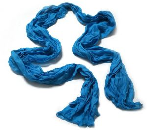 ecf3470ad5455 1pcs Sky Blue Soft Wrinkle Long Cotton Crinkle Scarf Shawl For Women
