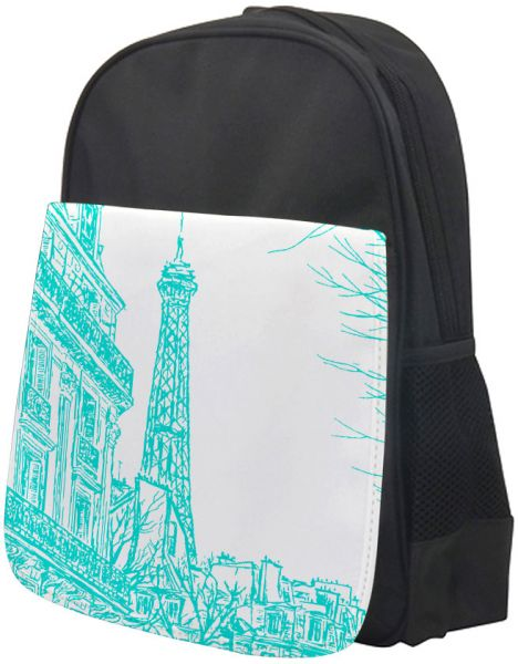 e311acaa6fc3 Abstract drawing of Paris in different colors Printed school bag for kids