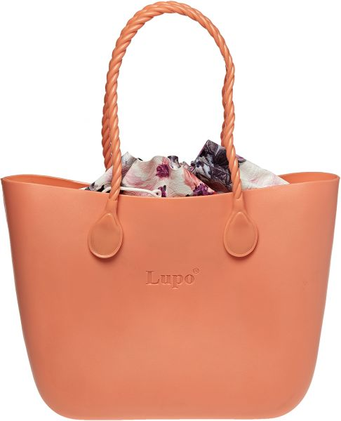 Lupo Jellies Tote Bag for Women - Peach