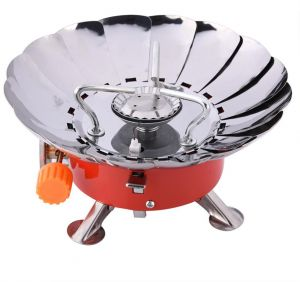 Outdoor Camping Portable Gas Stove Windproof Camping Backpacking Gas Stove