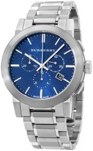 a2ddf9287 Burberry Men's Blue Dial Stainless Steel Band Watch - BU9363