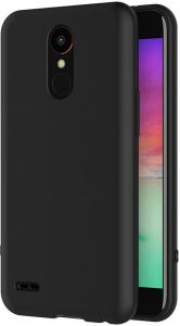 Silicone Back Case Cover By Ineix For LG K10 2017 - BLACK