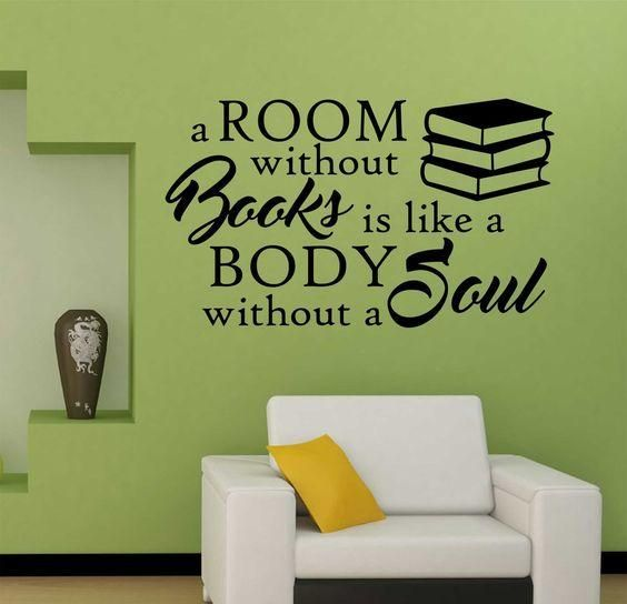 quotes on book reading, wall decals for living room, home decor