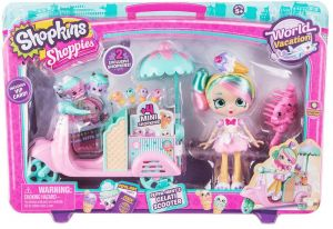 Shopkins Shoppies World Vacation Peppa Mints Gelati Scooter Playset