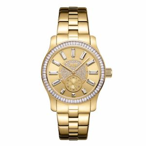 75fdeb8b1 JBW Celine Women's Gold Dial Gold Plated Stainless Steel Band Watch - J6349C