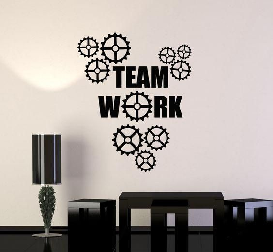 teamwork quotes for office, wall decals, home decor, waterproof wall