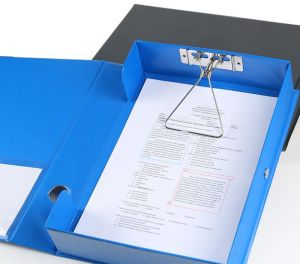 COMIX A4 Plastic Archive File Data Storage Box Office Stationery   BLUE