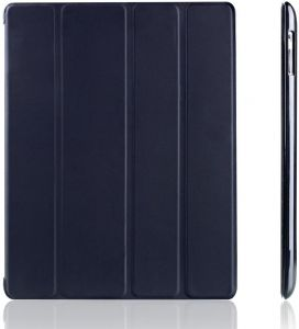 23a47ec1f1f Slim-Fit iPad Smart Cover Case for Apple iPad 2 iPad 3 iPad 4 with Built-in  Stand and Front Back Protection and Built-In Magnet for Sleep Wake Feature  Black